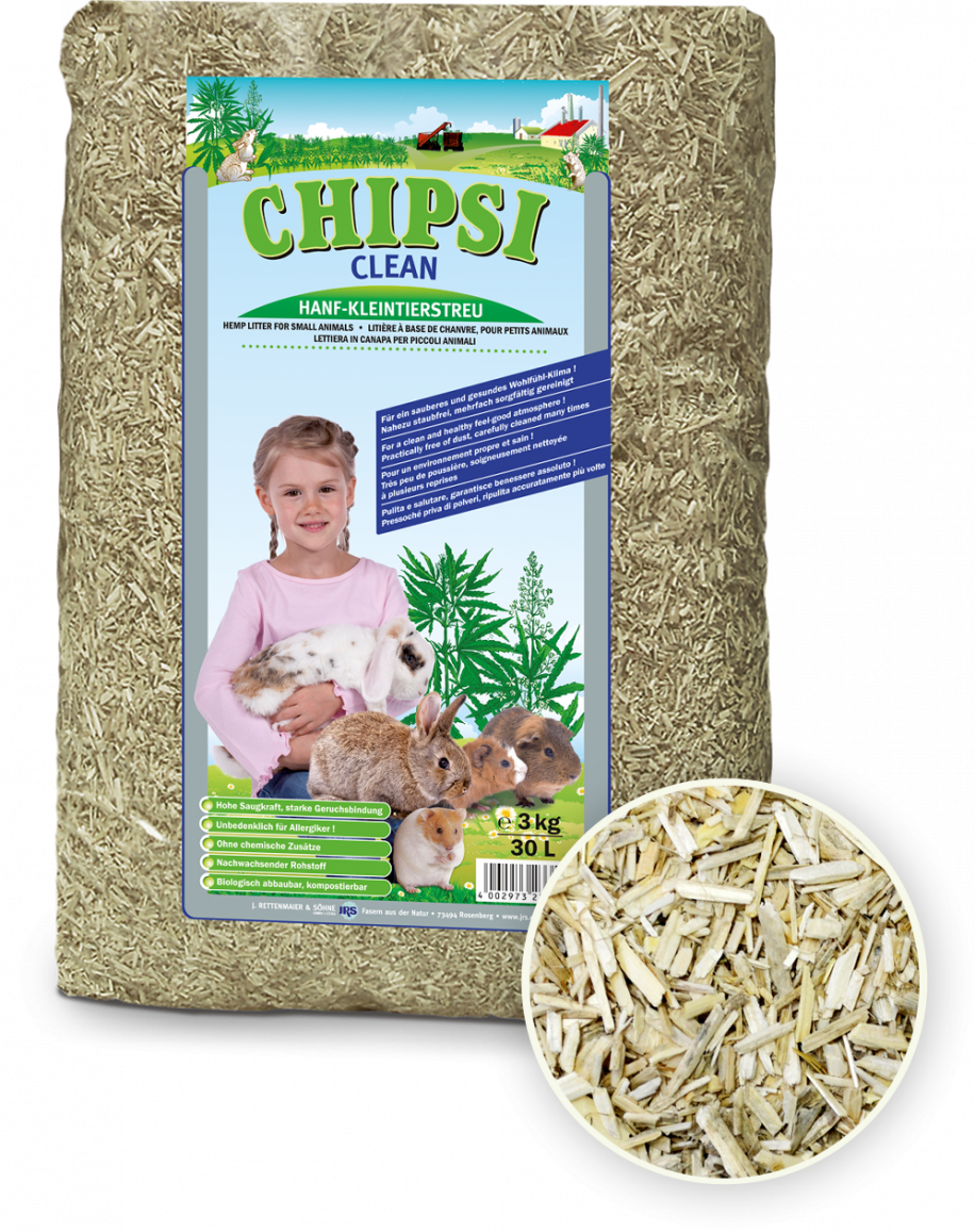 Chipsi clean litière chanvre