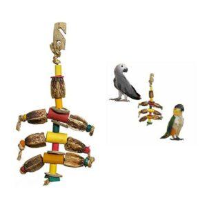 jouet suspension perroquets perruches