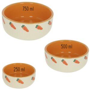 Gamelle en céramique motif carottes