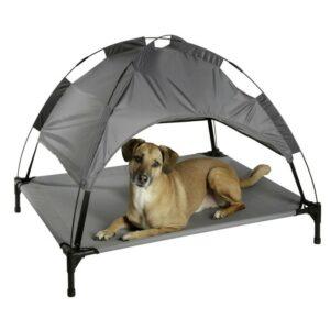 Lit couchette vacation gris chien toit amovible