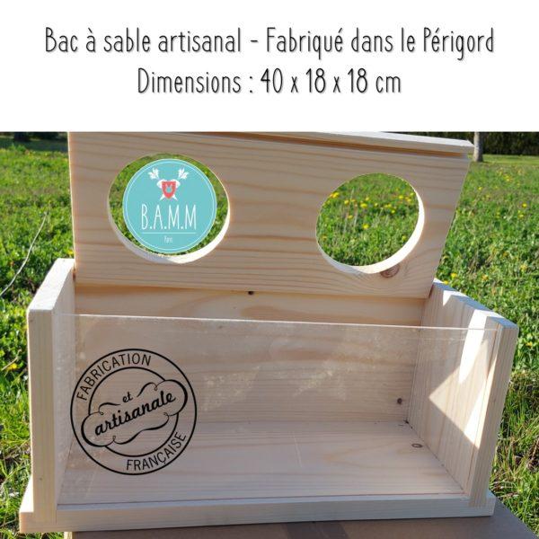 Bac à sable octodons chinchillas gerbilles BAMM Paris artisanal français sépiolite