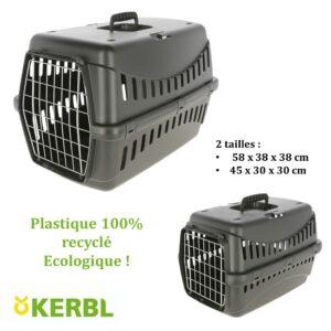 Caisse de transport eco KERBL lapins chats rongeurs lapins chiens bamm paris