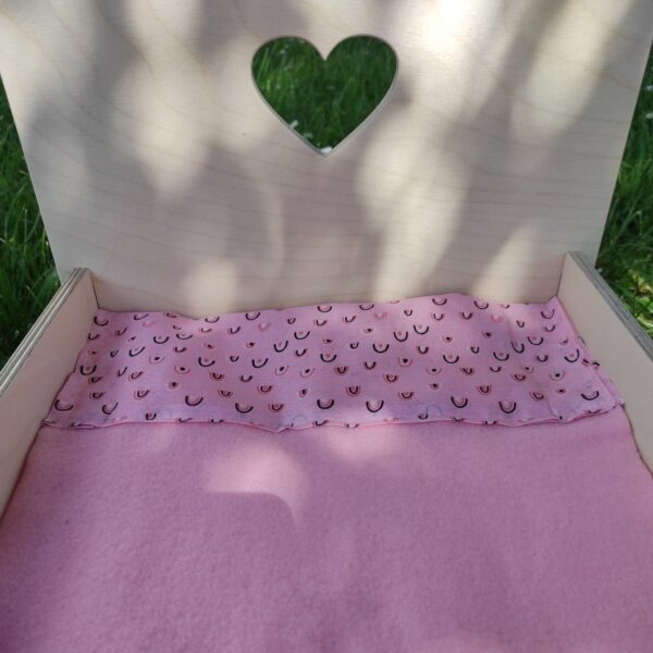 couverture rose lit bunny nature