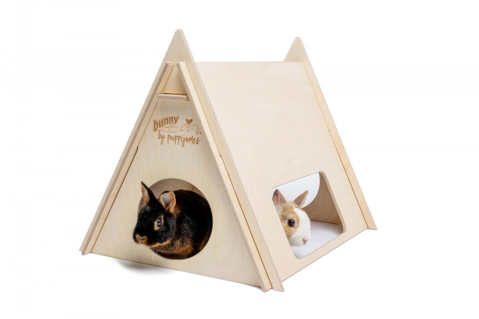 Tente de camping en bois bunny nature